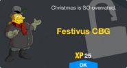 Festivus CBG Unlock Screen