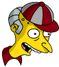 Softball Mr. Burns Happy Icon