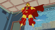 Everyman as Iron Man in the show