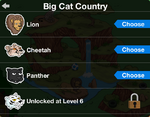 Big Cat Country animal selection
