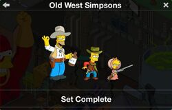 Old West Simpsons Character Collection
