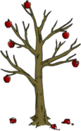 Halloween Apple Tree