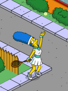 Tennis Marge Serving