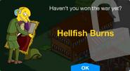 Hellfish Burns Unlock Screen