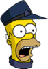 Conductor Homer Surprised Icon