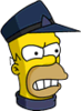 Conductor Homer Angry Icon
