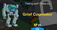 Grief Counselor Unlock Screen