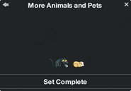 More Animals and Pets Character Collection