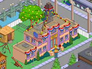 Skinner in front of the Springfield Elementary Crypto-farm