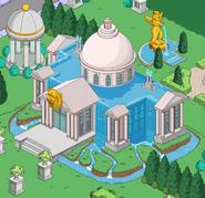 Water Baron Burns Mansion in the Mansion Gardens