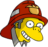 Fire Chief Moe Happy Icon