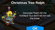 Christmas Tree Ralph notification