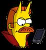 Devil Flanders Phone Annoyed Icon