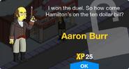 Aaron Burr Unlock Screen