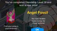 Angel Fossil Unlock Screen