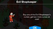 Evil Shopkeeper notification