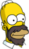 Homer Beard Icon