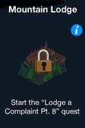 Mountain Lodge Store locked