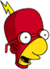 Radioactive Milhouse Excited Icon
