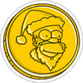 Santa Coin Currency Icon