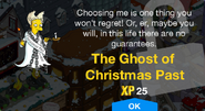 The Ghost of Christmas Past Unlock Screen