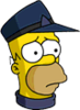Conductor Homer Sad Icon