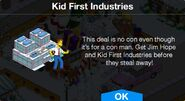 Kid First Industries notification