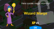 Wizard Marge Unlock Screen