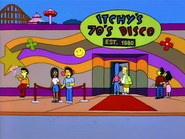 Itchy's 70's Disco in the show