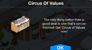 Circus Of Values notification