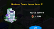 Business Center Level 3 Upgrade Screen