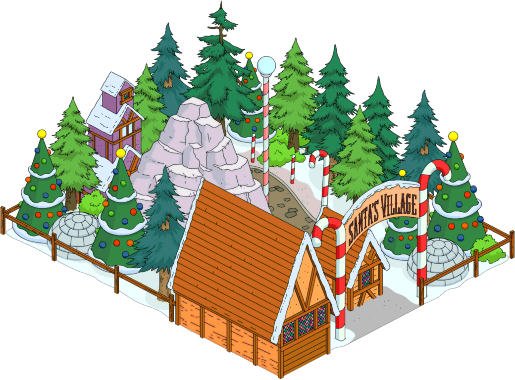 Simpsons Christmas Village.Santa S Village The Simpsons Tapped Out Wiki Fandom