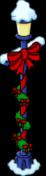 Lamp Post Festive Bow