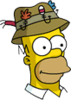 Homer Fishinghat Icon
