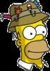 Homer Fishinghat Icon