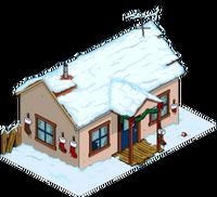 Christmas Crazy Cat House Snow Menu
