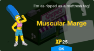 Muscular Marge Unlock Screen