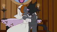 Mrs. Scratchy marrying Scratchy in the show