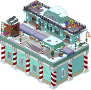 North Pole Station Flipped Snow Menu