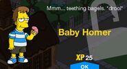 Baby Homer Unlock Screen