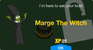 Marge the Witch Unlock Screen