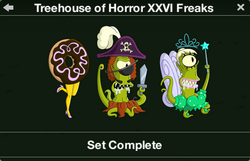 Treehouse of Horror XXVI Freaks Character Collection