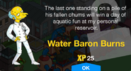 Water Baron Burns Unlock Screen