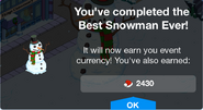Best Snowman Ever Complete Screen