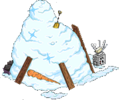 Best Snowman Ever Large Heap of Snow Level 2 Upgrade
