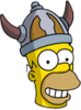 Barbarian Homer Happy Icon