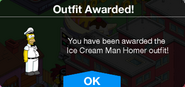 Ice Cream Man Homer Outfit Awarded