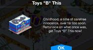 Toys B This notification