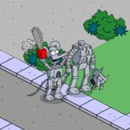 Itchy & Scratchy Bot when tapped