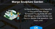 Marge Sculpture Garden notification